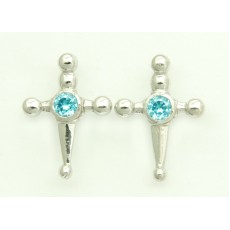 Blue Sword Earrings